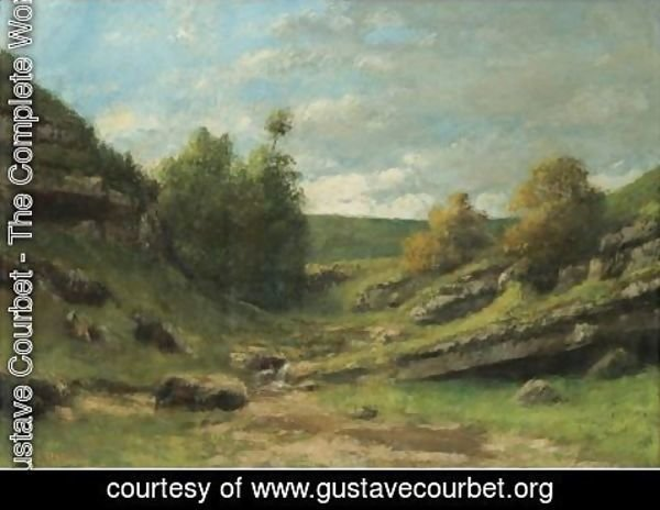 Gustave Courbet - La Vallee Rocheuse 2