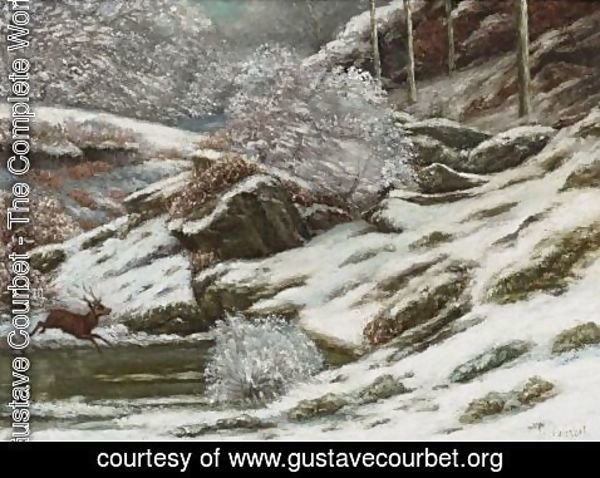 Gustave Courbet - Paysage D'Hiver