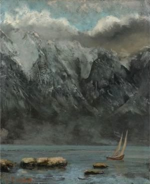 Gustave Courbet - Bords Du Lac Leman