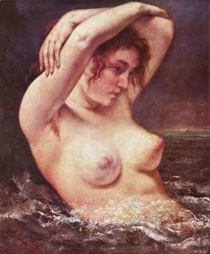 Gustave Courbet - The Bather