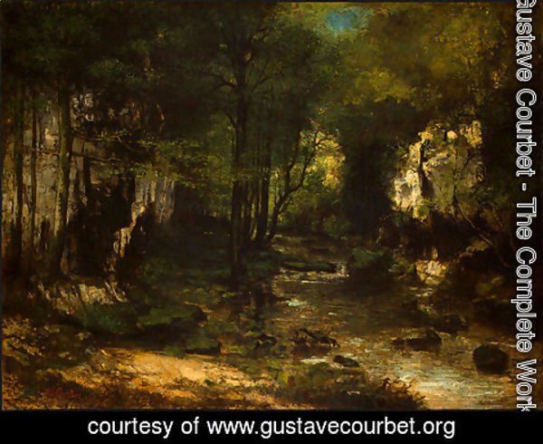 Gustave Courbet - The Stream