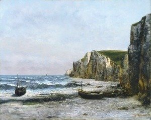 Gustave Courbet - The cliffs at Etreat