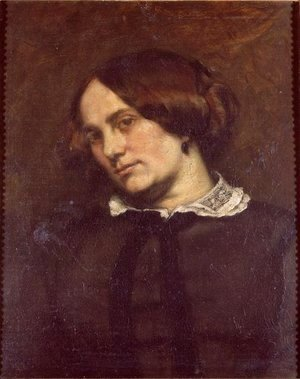 Gustave Courbet - Portrait of Zelie Courbet