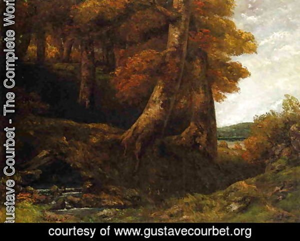 Gustave Courbet - Entering the Forest 2