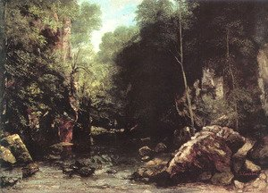 Gustave Courbet - The Black Creek