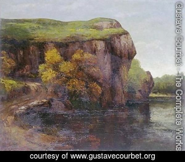 Gustave Courbet - The Cliff