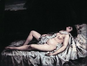 Gustave Courbet - Reclining nude