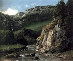 Gustave Courbet - Stream in the Jura Mountains