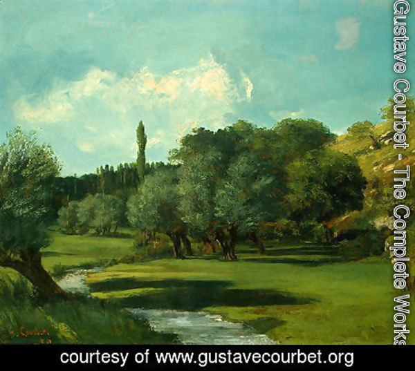 Gustave Courbet - La Bretonnerie in the Department of Indre