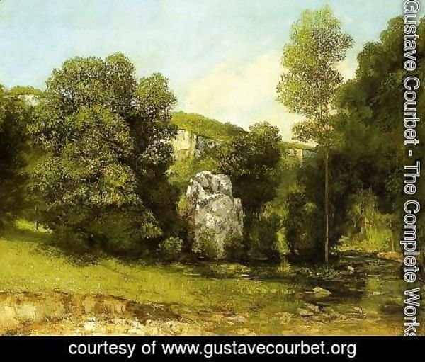 Gustave Courbet - The Stream in Bremen