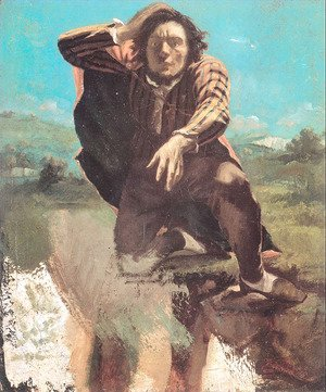 Gustave Courbet - The Man Made Mad by Fear