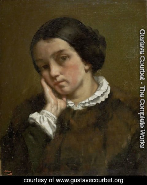 Gustave Courbet - Portrait of Zelie Courbet 2