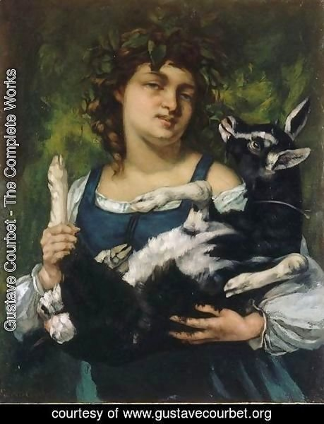 Gustave Courbet - The Village Girl with a Goatling