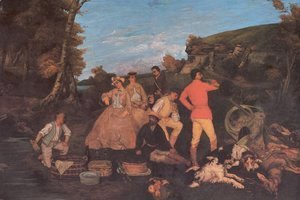 Gustave Courbet - The Huntsman's Picnic 2