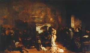 Gustave Courbet - Painter's Studio: Allegory of Seven Years of My Artistic and Moral Life